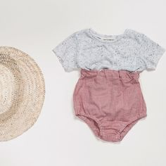 Monday's call for easy peasy outfits  mix and match spring styles for endless combinations. // pocket tee  high waist bloomer (from our summer set) #carlymegan @nmhessphotography | children's clothing kids style baby style fashionable kids modern baby clothing