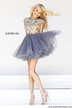 Sherri Hill Short Homecoming Dress 21304 at Peaches Boutique