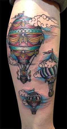 A sleeve with many balloons by Kyle Porter. - I want clouds and I like the fire aspect