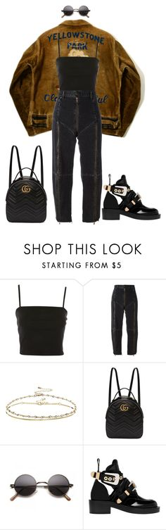 """""""Basic instinct"""" by natysdvd ❤ liked on Polyvore featuring Topshop, Vetements, ASOS, Gucci and Balenciaga"""