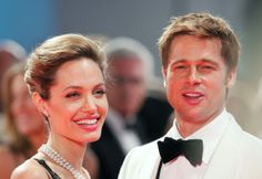 Angelina Jolie and Brad Pitt attend the The Assassination of Jesse James by the Coward Robert Ford premiere on the Day 5 of the 64th Annual Venice Film Festival on September 2, 2007 in Venice, Italy.