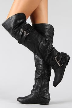 Buckle Slouchy Thigh High Boot. Aye, these be some fine boots for me to be wearing! Pirates!