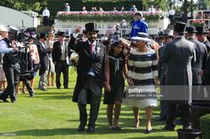 Barney Roy owner Sheikh Mohammed bin Rashid Al Maktoum and Princess Haya bint Al Hussein of Jordan (right) celebrate in the winners encloser after winning the St James's Palace Stakes during day one of Royal Ascot at Ascot Racecourse. (Photo by John Walton/PA Images via Getty Images)
