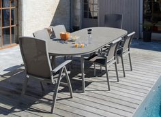 7feb93e5e96d7c Table Bilbao 220 280 cm, plateau Trespa® - Mobilier de jardin pour le repas  - Promotions, Bons plans - Proloisirs - Mobilier de jardin en ligne -  Meubles de ...