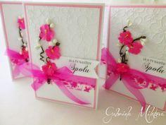 Gabi M. craftuje: CARDS Love Cherry Fuchsia Card