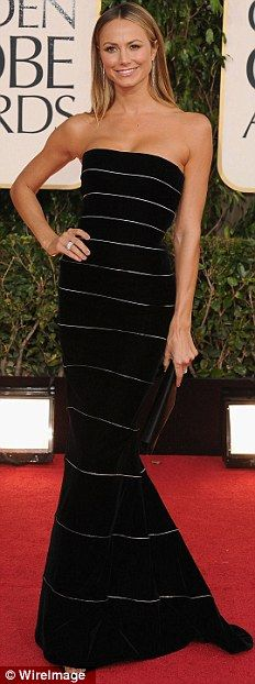 Stacy Keibler in Armarni at the Golden Globes 2013 - hot dress!