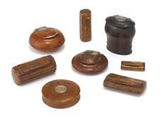 A GROUP OF EIGHT ASSORTED WOOD SNUFF BOXES, EARLY 18TH/EARLY 19TH CENTURY | Lot | Sotheby's