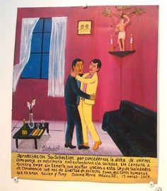 ex voto: thank you San Sebastian for marriage equality.