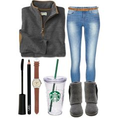 Casual school outfits winter · clothes casual outfit for teens movies girls women summer Casual Outfits For Teens, Lazy Day Outfits, Cute Fall Outfits, Winter Outfits Women, Preppy Outfits, Casual Winter Outfits, Everyday Outfits, Casual Clothes, Outfits