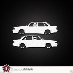 (944) 2x  Low and Slow Audi 90 Typ 81 / Sticker Aufkleber VAG Turbo quattro