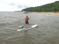 Staff at Virginia State Parks are certified and trained to become SUP instructors to teach seasonal staff and to safely conduct programming