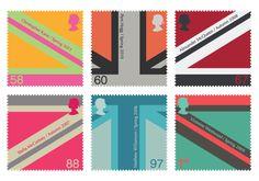 UK postage stamps - by Niki Black