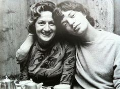 MICK JAGGER AND HIS MOM via-Tumblr