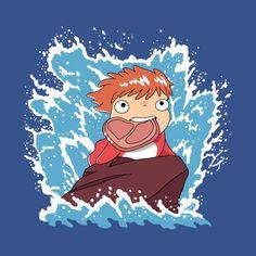 The Little Hameater - Ponyo - T-Shirt Studio Ghibli Art, Studio Ghibli Movies, Ponyo Anime, Hayao Miyazaki, Kawaii Wallpaper, Anime Films, Wattpad, Magical Girl, Japanese Art