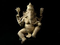 Ganesh is one of the best known & loved deities in the Hindu pantheon of gods, & indeed is the most recognised outside of India. But who is this elephant headed fellow & why is he so popular? Lotus Sculpture, Lion Sculpture, Animal Symbolism, Black Background Images, Lord Ganesha, Sri Ganesh, Elephant Head, Animal Totems, God Of War