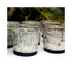 Tasses à café en raku, pièce unique faite à la main