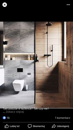 Bathroom design 💭 Who else is in love with the contrast between the timber and tiles ♥️ ~~~~~~~~~~~~~~~~~~~~~~~~ Home renovation ideas and architecture inspiration 💫 ~~~~~~~~~~~~~~~~~~~~~~~~ All credits correspond to photographer, designer, creator Home Design, Design Loft, Modern Shower, Modern Bathroom, Bathroom Inspiration, Interior Design Inspiration, Design Ideas, Studios, Bathroom Pictures