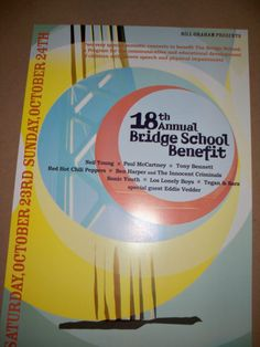 18th Annual Bridge Benefit Concert Poster Tony Bennett Paul McCartney RHCP 2004
