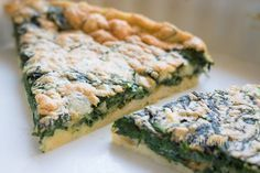 Zapekaný špenát Vegetable Recipes, Vegetarian Recipes, Cooking Recipes, Healthy Recipes, Healthy Snacks, Healthy Eating, Quiche Recipes, Home Food, Low Carb Diet