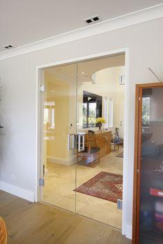 Sliding Door Into Wall single glazed, low iron frameless sliding door into cavity recess