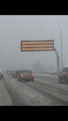"""I live in Denver where yesterday it was 65 and sunny and today it is blizzard conditions with an expected 10"""" of snow. As I was driving to work I caught this emergency road sign that correctly summarized my feelings.. #Follow Me #CooliPhone6Case on Twitter Facebook Google Instagram LinkedIn Blogger Youtube"""