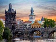 Charles Bridge, Czech Republic: If you ever venture to Prague, Czech Republic, you can't miss Charles Bridge. One of Prague's best-known sights, the structure goes over the Vltava river. Charles Bridge, Cheap Places To Go, Places To See, Best Vacation Spots, Best Vacations, Vacation Ideas, Design Hotel, Places In Europe, Places To Travel