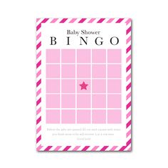Baby Shower Bingo - we love this pack that comes with Bingo cards + mini-pencils! A fun baby shower game to keep guests engaged while mom-to-be opens gifts.