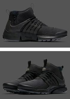 "Nike Presto Mid Utility ""Triple Black"""