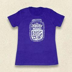 Ole Smoky Ladies Pass The Jar Tee #purple #womens #Tennessee #Tshirt #gift #idea