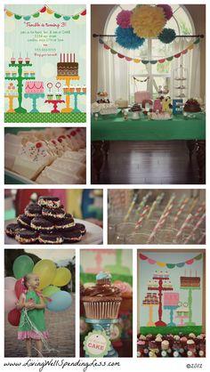 CAKE themed birthday party via www.LivingWellSpendingLess.com