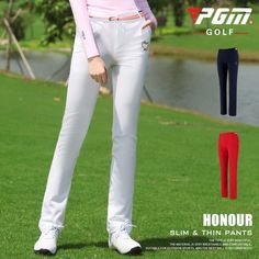 Pgm 2020 Ultra-thin Summer Pant Spring Golf/Tennis Pants High Elastic Women Trouser Breathable Slim Fast Dry Pants  Price: 43.99 & FREE Shipping  #fashion|#sport|#tech|#lifestyle Slim Fast, Summer Pants, Golf Accessories, Trousers Women, White Jeans, Tennis, Tech, Free Shipping