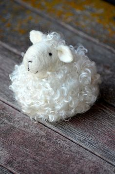 wool needle felted lamb by BearCreekDesign