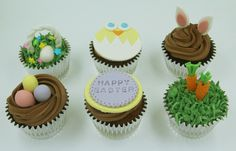 Adorned with adorable fondant toppers, our Easter themed cupcakes will bring a smile to the kids and even the adults out there. Easter Cupcakes, Themed Cupcakes, Birthday Cupcakes, Mini Cupcakes, Fondant Toppers, Fondant Cupcakes, Yummy Cupcakes, Food Tech, Custom Cupcakes