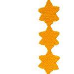 ODDknit - Free Knitting Patterns - Little Star Banner Knitting Dolls Free Patterns, Knitted Dolls Free, Christmas Knitting Patterns, Knit Christmas Ornaments, Knitted Christmas Decorations, Knitted Heart Pattern, Star Banner, Star Garland, Easy Knitting