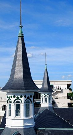 The twin spires of Churchill Downs in Louisville, Kentucky.