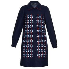 MOTHER OF PEARL Kipling crystal-embellished wool coat (€1.270) ❤ liked on Polyvore