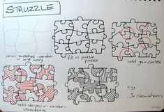 struzzle zentangle tutorial #zentangles