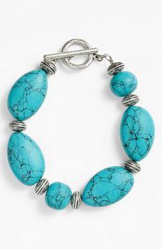 Lauren Ralph Lauren Beaded Toggle Bracelet available at #Nordstrom