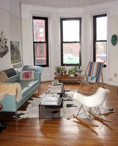 Leslie Siegel's living room, Park Slope, Brooklyn