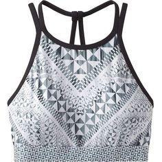 Prana Women's Boost Bra (€51) ❤ liked on Polyvore featuring activewear, sports bras, tops, sport, bra, workout, black luna, prana, strappy sports bra and sports bra