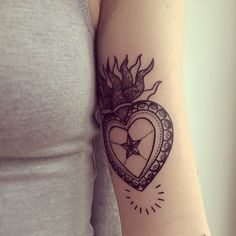50 Heart Tattoos So Cute You Can't Handle It: We're loving the ladies who have taken the leap, made the commitment, and gotten marked with some permanent heart-shaped ink, big and small.