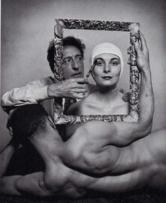 Philippe-Halsman-Portrait-of-Jean-Cocteau-with-Ricki-Soma-and-Leo-Coleman.jpg (1046×1280)
