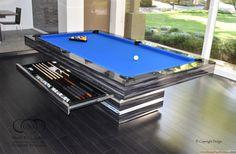 Home Remodel Open Concept .Home Remodel Open Concept Diy Pool Table, Custom Pool Tables, Pool Table Dining Table, Pool Table Room, Modern Pool Tables, Modern Table, Pool Bar, Game Room Basement, Basement Ceilings
