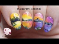 PiggieLuv: Dream landscape nail art
