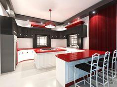 Architectural Rendering: Proposed Kitchen Interior Design