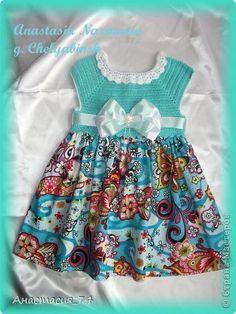 Гардероб Вязание крючком Шитьё Платье для моей принцессы Бусины Ленты Нитки Ткань фото 3 [] #<br/> # #Rubrics<br/>
