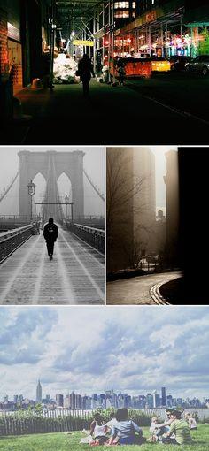 A year in New York city. Brooklyn bridge. Williamsburg. Central Park.