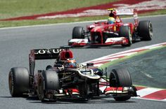 Kimi Räikkönen finished second place at GP of Spain ahead of Alonso teammate Massa and Sebastian Vettel
