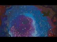 """Mother and Son Collaboration, Blackbird (Time-Lapse), 2014, Acrylic, Glitter Glue, and Wax Pastel on Canvas, 10 x 8 inches, Music: """"Eternal Hope"""" by Kevin MacLeod (incompetech.com) #art #astronomicalart #mixedmedia #spaceart #surrealism #timelapse #traditionalart"""