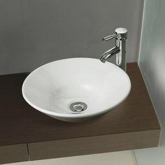 Round Bathroom Cloakroom White Ceramic Counter Top Wash Basin Sink Washing Bowl | eBay
